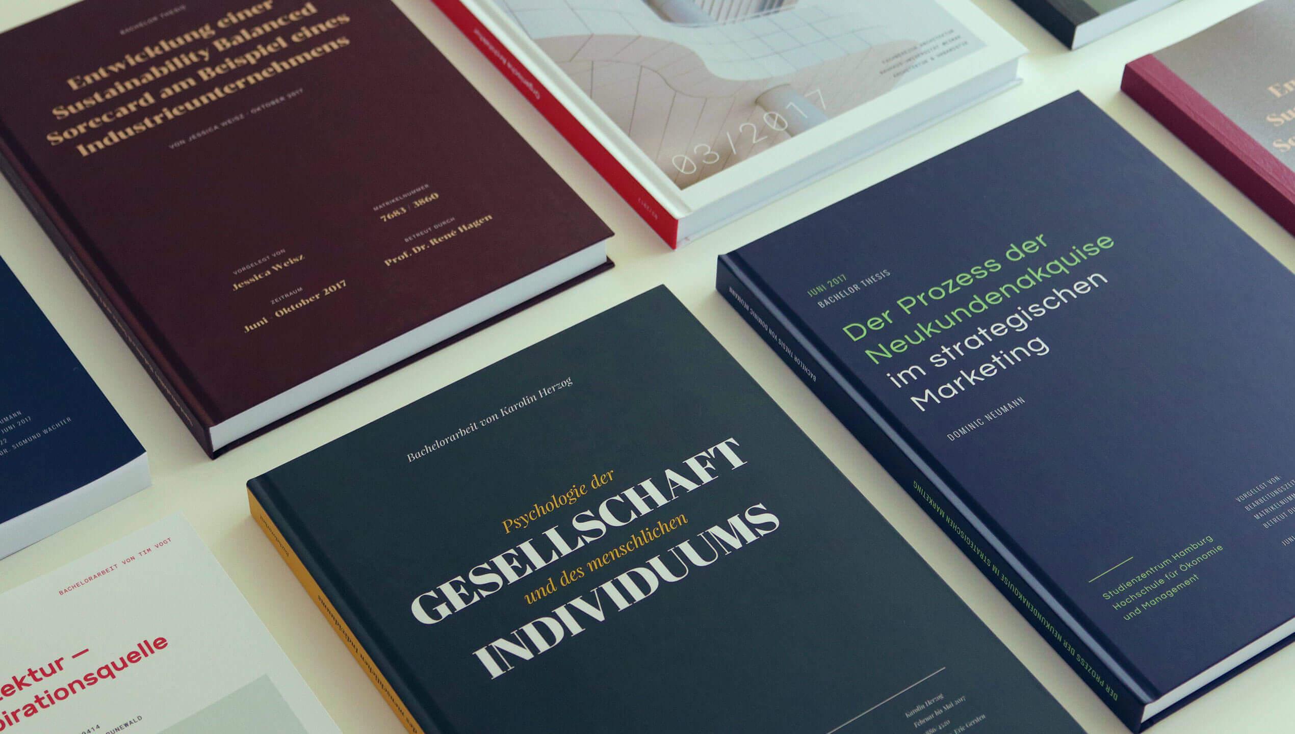 Bachelorarbeiten gedruckt - Inspriation